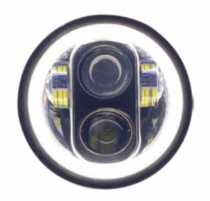 "5-3/4"" Replacement Motorcycle LED Headlight with or Without Halo"