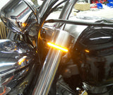 Chrome Glow LED Fork Mounted Lights