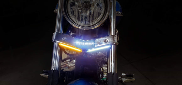 Yamaha Raider Switchback Turn Signals w/ Lite-up Badge