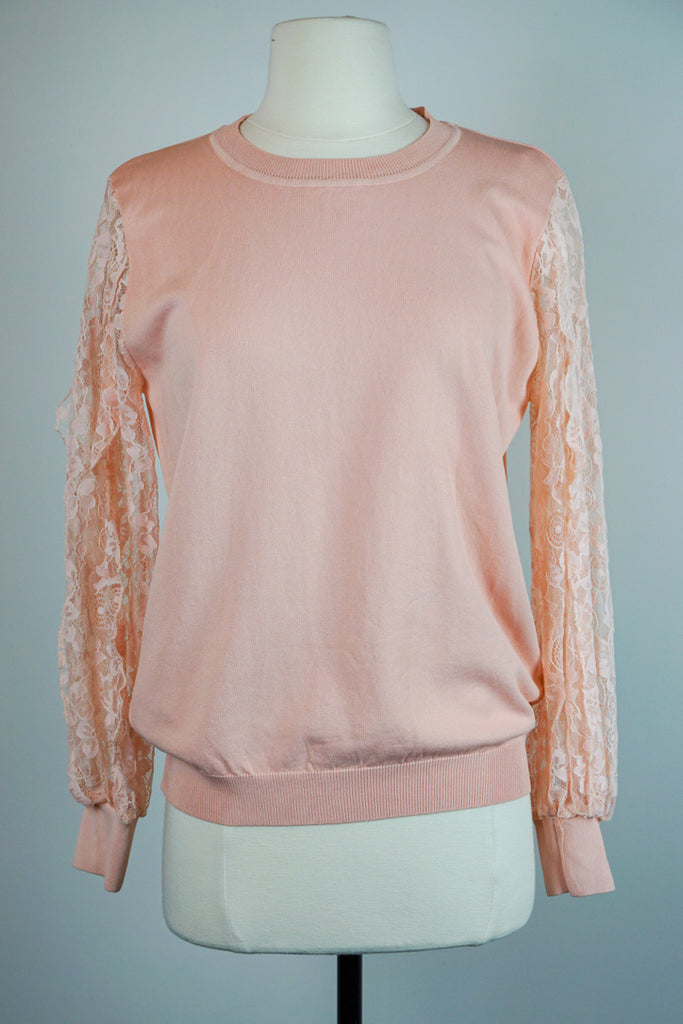 Pale Peach lace longsleeve
