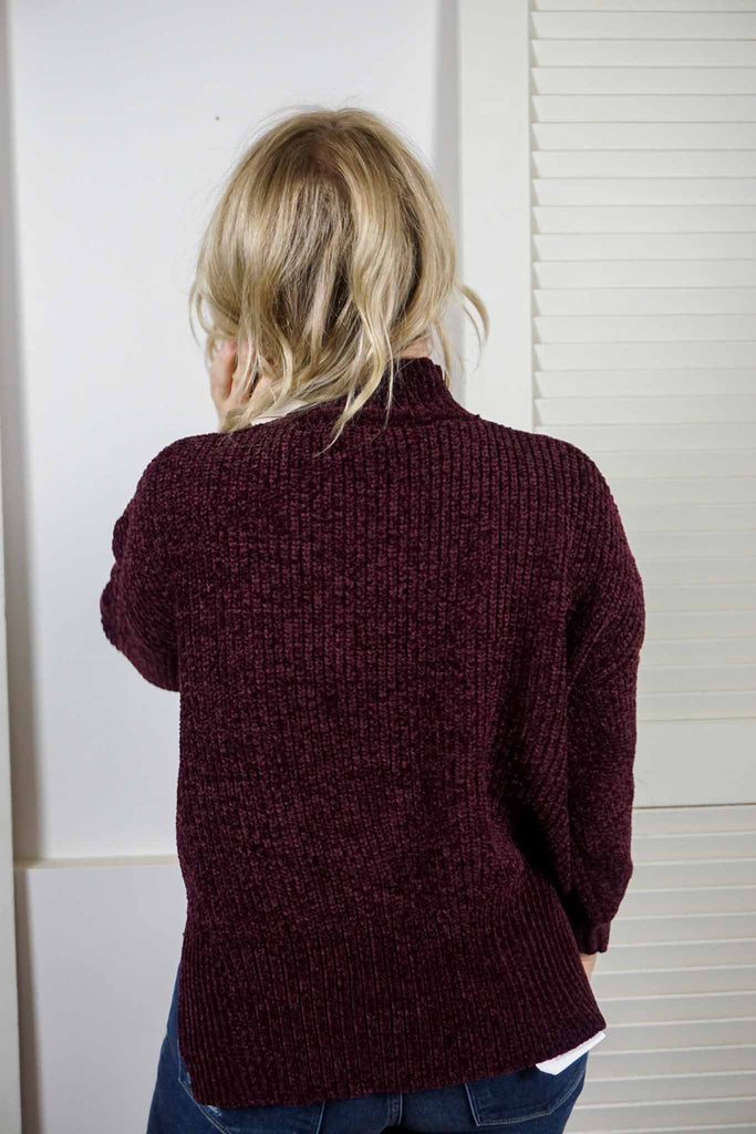 Plum Chenille Sweater