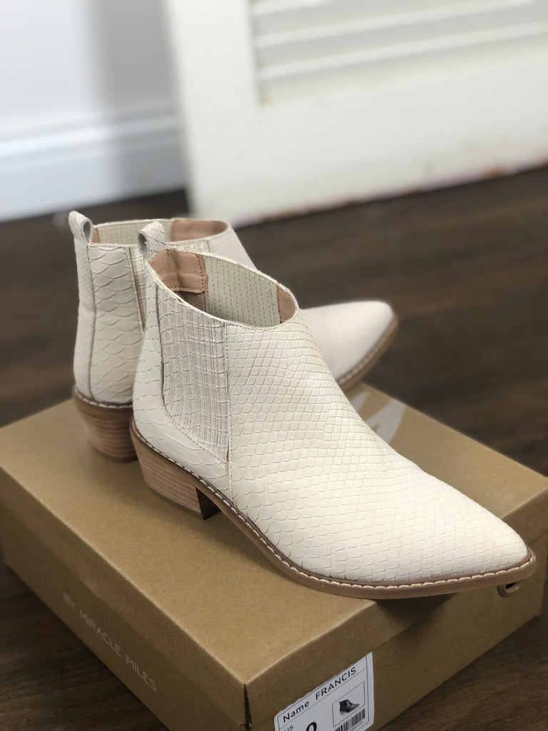 Francis Off White Bootie