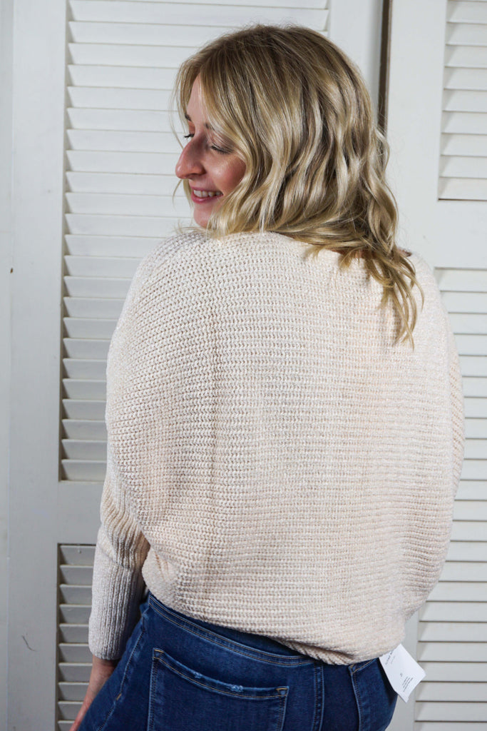 Boat Neck Chenille Sweater