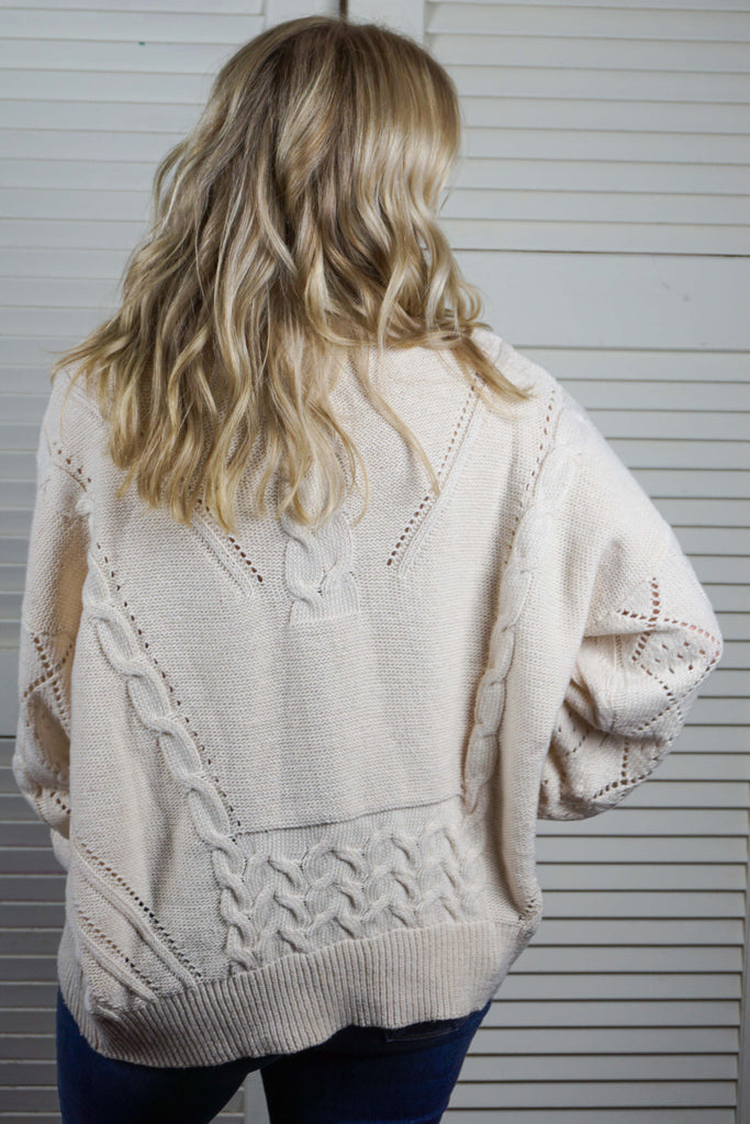 Cream and Glitter Sweater