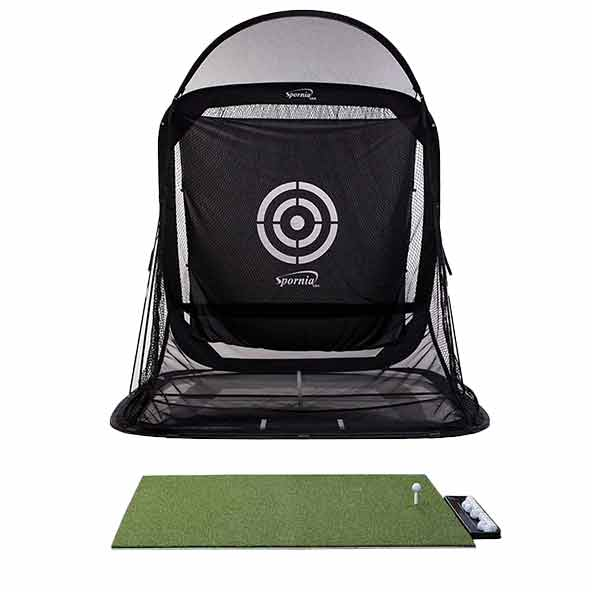 SPG-7 Golf Net w/ <p>DuraPRO Plus Residential Golf Mat (4 x 5 feet) </p>