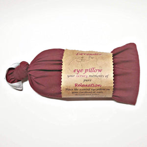 Red lavender eye pillow, vegan pouch, handmade Scotland UK