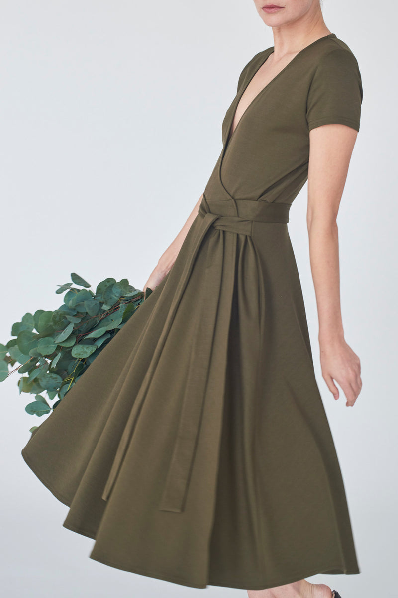 dress-khaki-Catherine-detail2