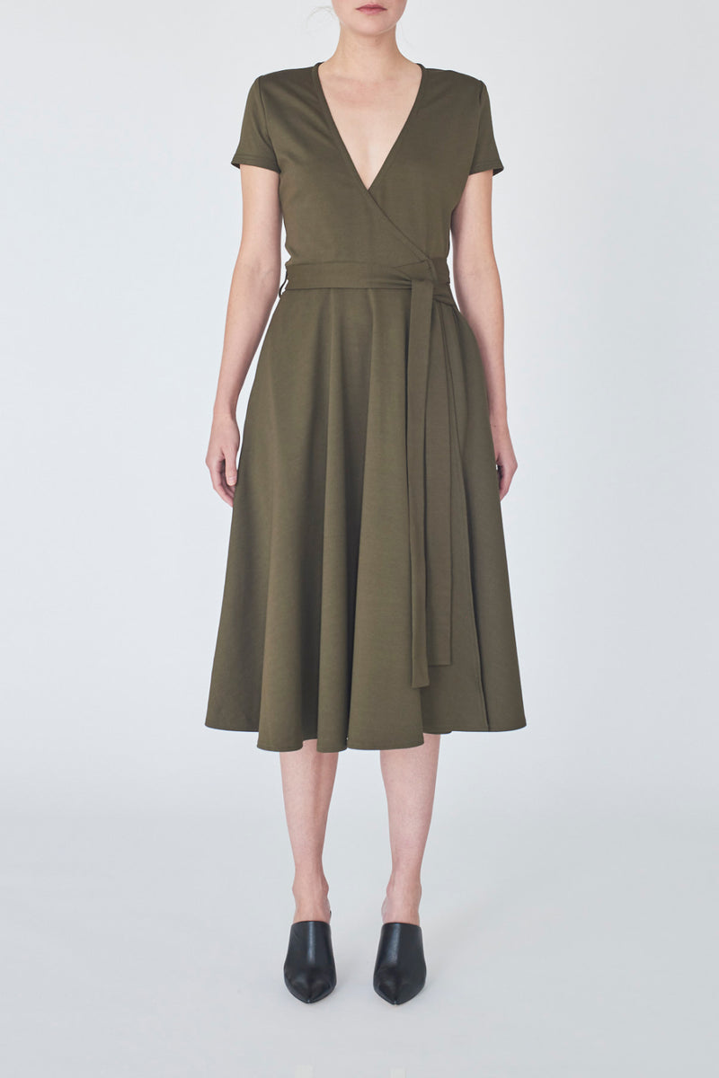 dress-khaki-Catherine-front