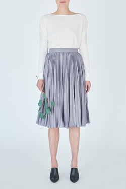 skirt-metallic-grey-Coralie-Argent-front