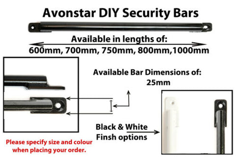 DIY Window Security Bars Pack of 6 Items