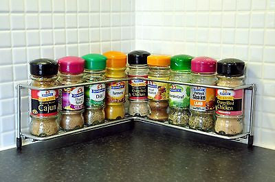 Corner chrome spice rack from the Avonstar Classic Range