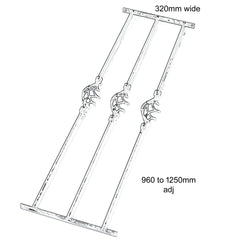 Adjustable Decorative Window Bars Triple