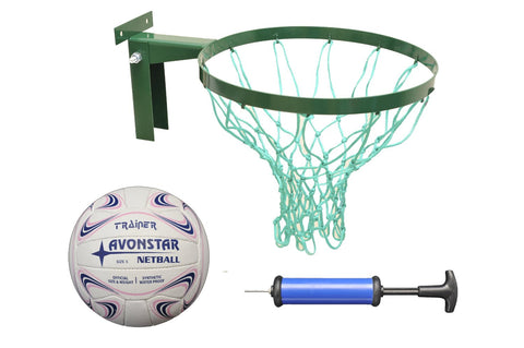 Deal Package! Strong Netball Hoop INCLUDES size 5 netball (Robust Ring made in Britain) & 2 Years Warranty Buy this and qualify for free pump.