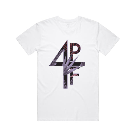 Floral 4PF Tee - White