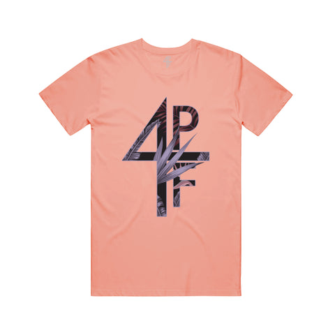 Floral 4PF Tee - Coral
