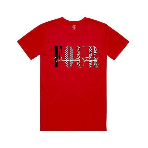 Patterns Tee - Red
