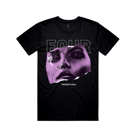Glass Face Tee - Black