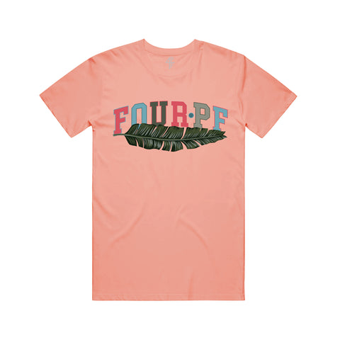 FourPF Branch Tee - Coral