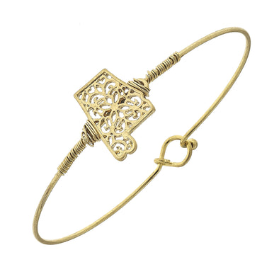 17976B-AL-GD Alabama Filigree State Latch Bracelet by Crave