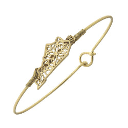 Kentucky Filigree State Latch Bracelet in Worn Gold by Crave