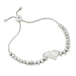 South Carolina Filigree State Beaded Bolo Bracelet in Worn Silver by Crave