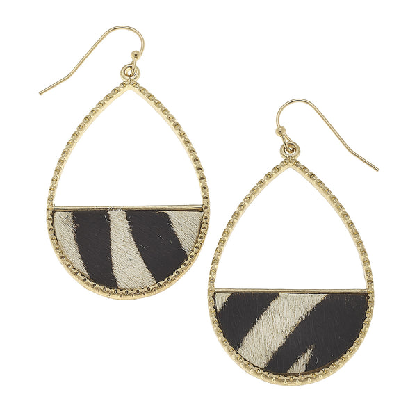17983E Leopard Print Teardrop Earring by Crave