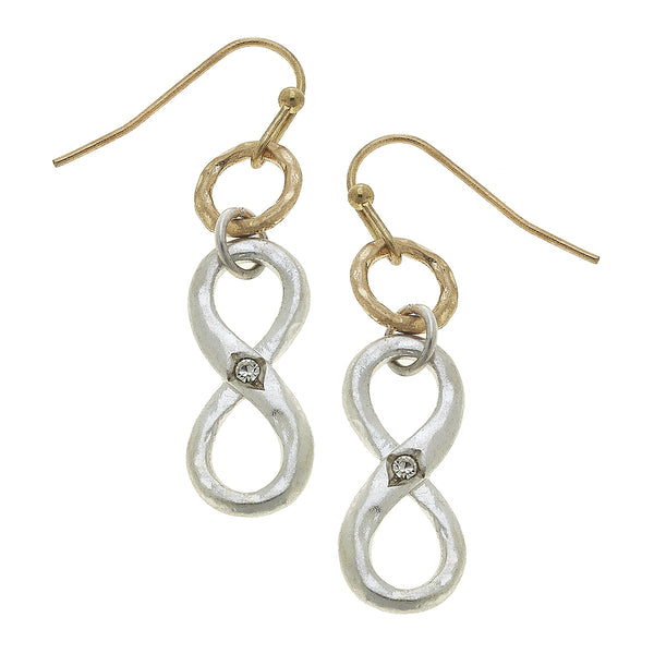 Infinity Drop Earring in Two-Tone by Crave