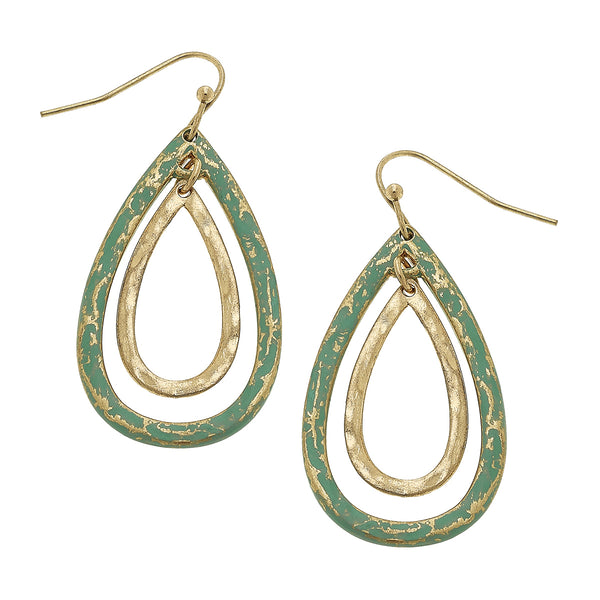 18688E Patina Teardrop Drop Earring by Crave