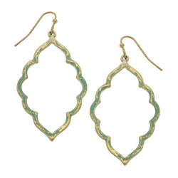 Patina Moroccan Drop Earring in Worn Gold by Crave