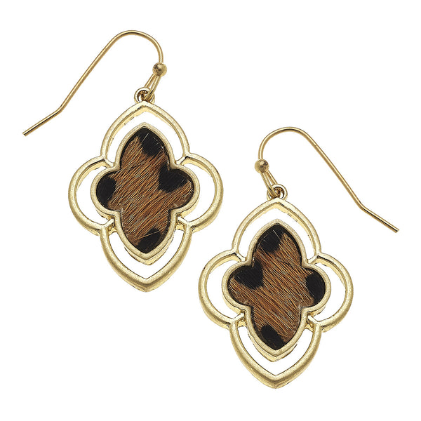 18725E-LEO Leopard Moroccan Earrings by Crave