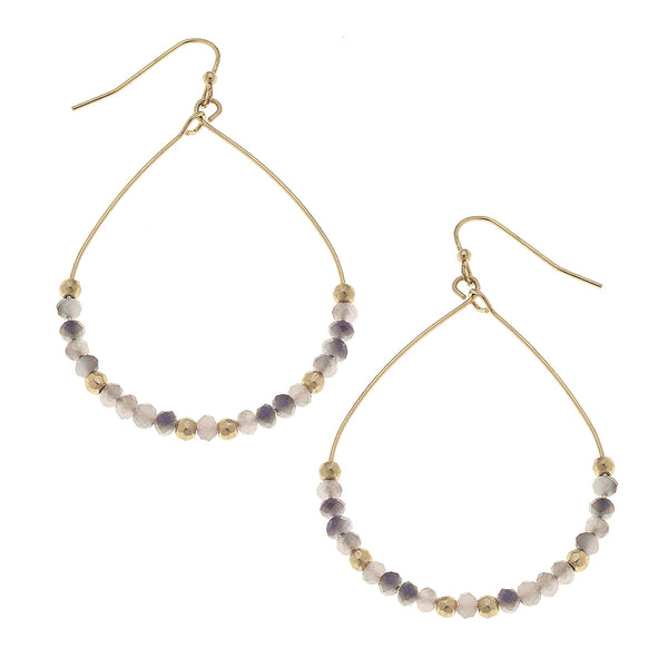 Glass Teardrop Earrings by Crave