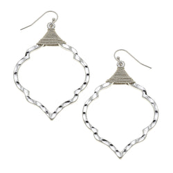 Wire Wrapped Moroccan Earrings in Worn Silver by Crave