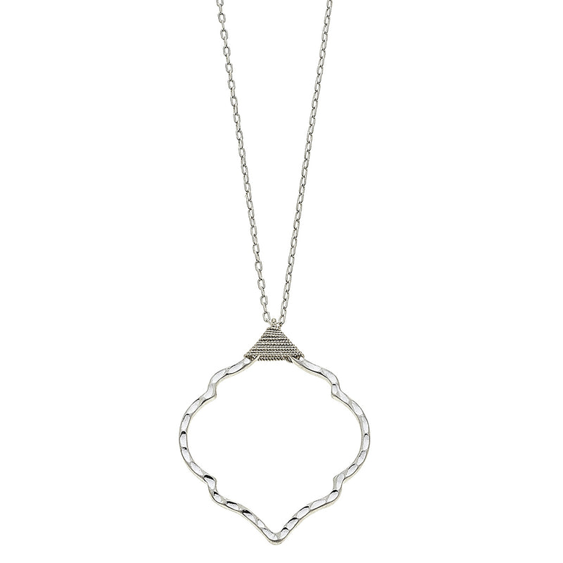 Wire Wrapped Moroccan Necklace in Worn Silver by Crave