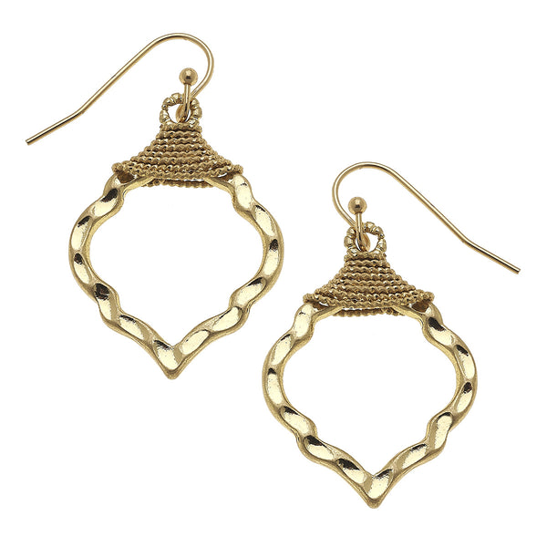 Wire Wrapped Moroccan Earrings in Worn Gold by Crave
