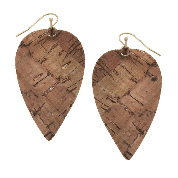 Cork Leaf Earrings by Crave