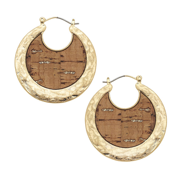 Cork Crescent Hoop by Crave