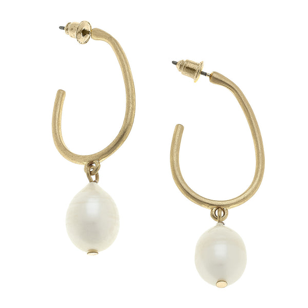 Adele Drop Earrings in Ivory Pearl