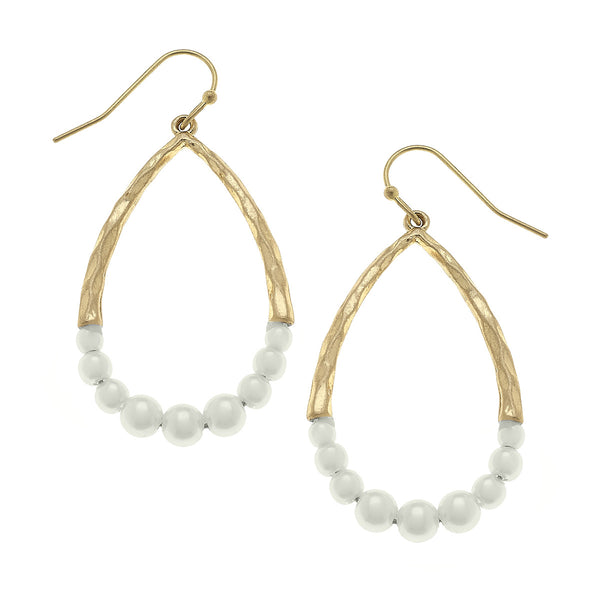 Lauren Teardrop Earrings in Ivory Pearl