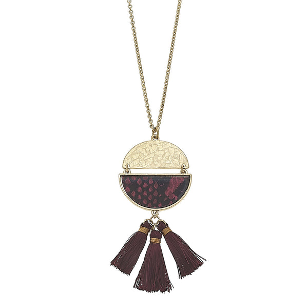 Python Print 3-Tassel Necklace in Red