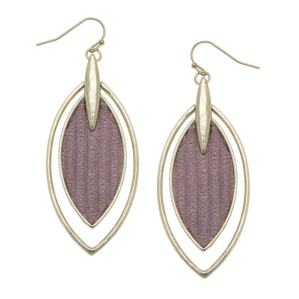 Velvet Marquis Drop Earrings in Mauve