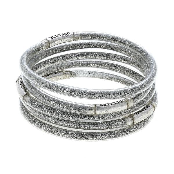 """Blessed Bangle"" In Silver by Crave"