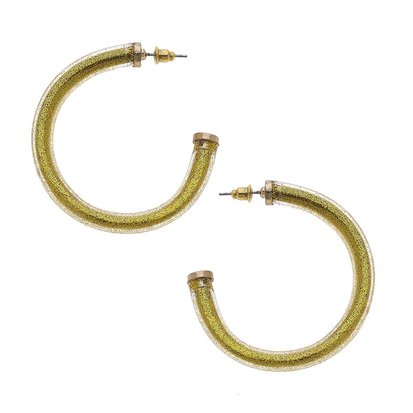 """Blessed Bangle"" Hoops In Gold by Crave"