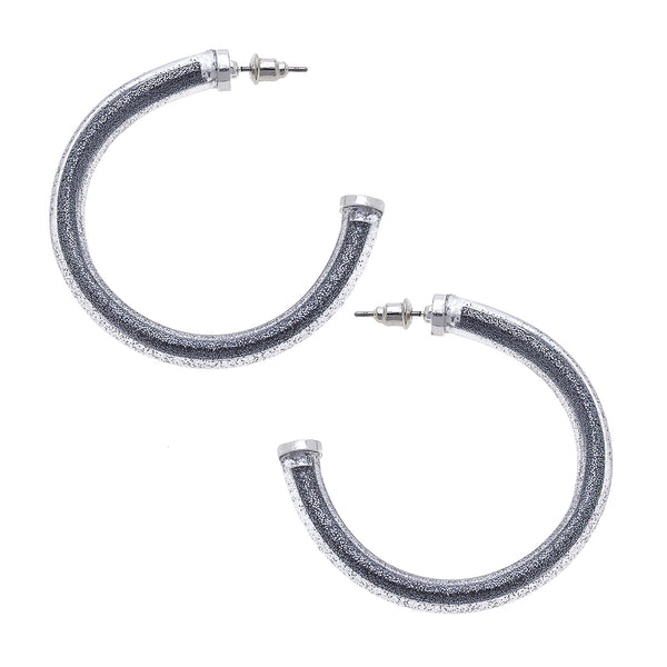 """Blessed Bangle"" Hoops In Hematite by Crave"