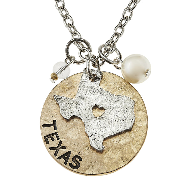 Texas Charm Necklace in Worn Gold by Crave