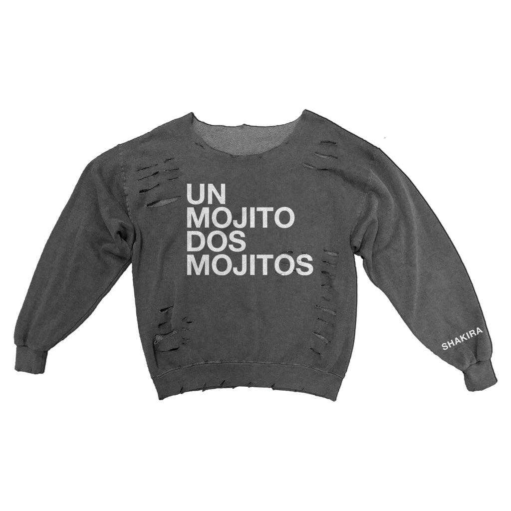 Un Mojito Dos Mojitos Destroyed Women's Sweatshirt - Shakira