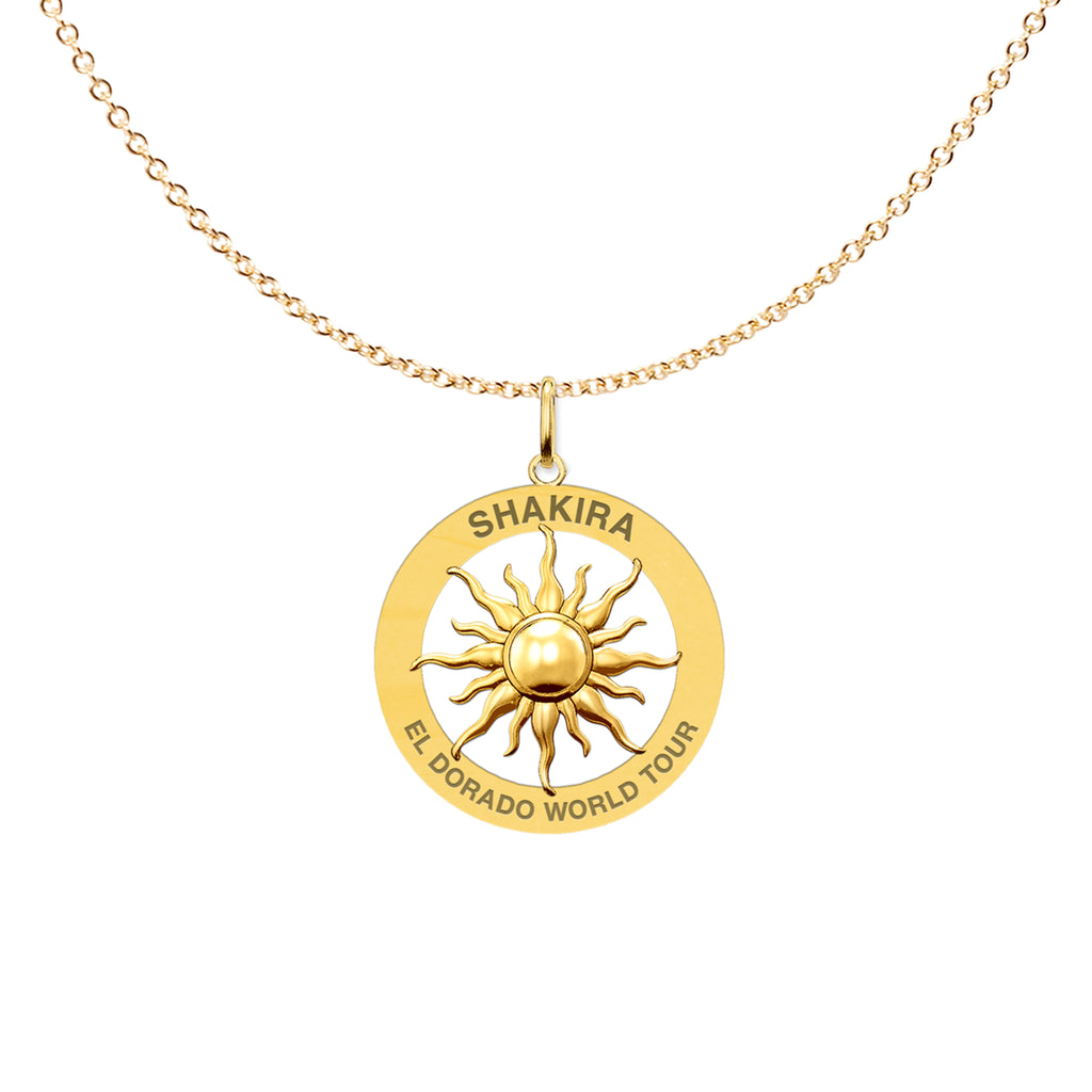 Shakira El Dorado World Tour Sun Necklace - Shakira