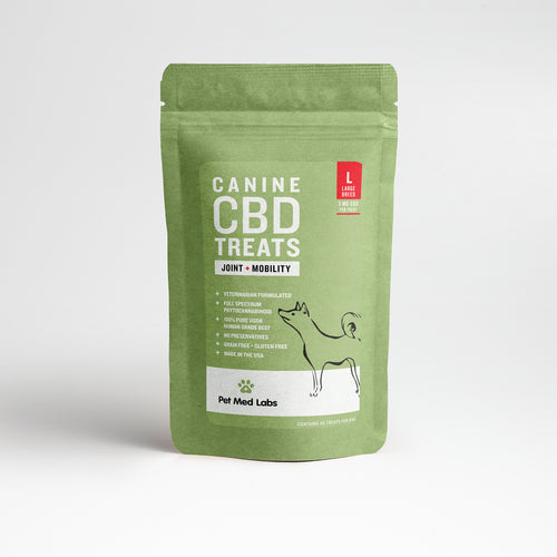 CANINE JOINT + MOBILITY CBD TREATS: Large Breed - Pet Med Labs