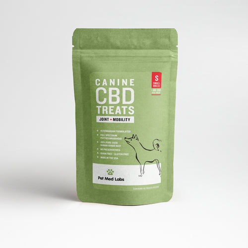 CANINE JOINT + MOBILITY CBD TREATS: Small Breed - Pet Med Labs