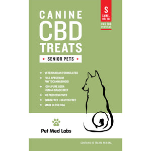 CANINE SENIOR CBD TREATS: Small Breed - Pet Med Labs