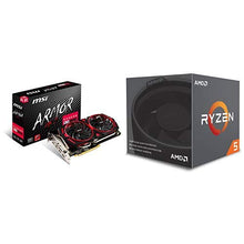 Load image into Gallery viewer, MSI Gaming Radeon RX 580 256-bit 8GB GDRR5 CFX Graphics Card (RX 580 ARMOR MK2 8G OC) & AMD Ryzen 5 2600 Processor with Wraith Stealth Cooler - YD2600BBAFBOX Bundle